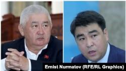 Зарылбек Рысалиев жана Жанарбек Акаев. Коллаж сүрөт.