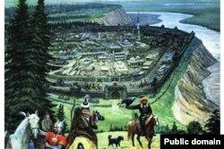 Искер каласы. Иллюстрация