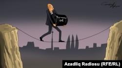 """""""Neft qiymətləri"""". Karikatura. Gündüz Ağayev."""