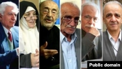بستهنگار، پیمان، شاهحسینی، صدر حاج سید جوادی، طالقانی، قهاری - عکسها از وبسایتهای «تاریخ ایرانی» و «ملیمذهبی»