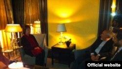 دیدار ظریف و اشتون در مونیخ: عکس از توییتر سخنگوی اشتون