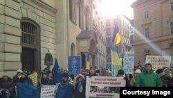 Українська хода у Відні, 26 січня 2014 року (фото користувача Rostyslav Futalo у Facebook)