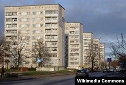 Дома советской постройки в городе Лиепая, Латвия