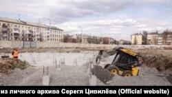 """На месте сгоревшего ТЦ """"Зимняя вишня"""" в Кемерове"""
