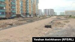 Улица Е-30 в районе Жагалау. Астана, 10 июля 2018 года.