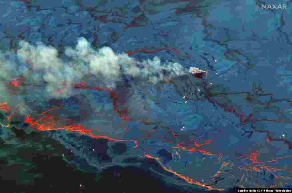 AT SEA -- Satellite image shows the oil spill in the Gulf of Mexico on June 20, 2010