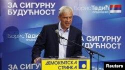 Boris Tadić na konferenciji za novinare nakon prvog kruga izbora u Srbiji, 7. maj 2012.