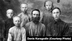 Степан Карагодин, расстрелянный сотрудниками НКВД, и его семья