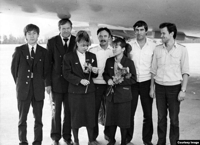 Экипаж рейса 4076 Нерюнгри-Якутск, 1990 год