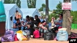 Ռուսաստան - Արևելյան Ուկրաինայից փախստականները Ռոստովի մարզում տեղակայված ճամբարում, հուլիս, 2014թ․