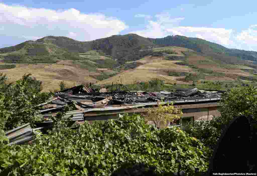 The village of Aygepar in Armenia's Tavush district was hit by mortar and artillery fire in cross-border clashes.
