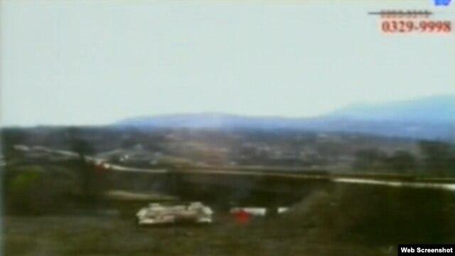 Snimak Vrhpoljskog mosta prikazan na suđenju Mladiću, 4. rujan 2012.