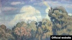 Борисов-Мусатов В.Э. Парк погружается в тень, 1904
