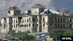 سرک قصر دارالامان محل که حملهء انتحاری امروز در آن جا صورت گرفت