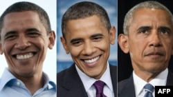 Барак Обама в разные годы