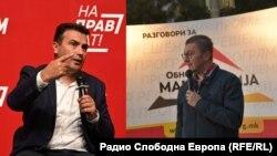 Zoran Zaev i Lidhjes Social-Demokrate të Maqedonisë dhe Hristian Mickoski i VMRO DPMNE-së
