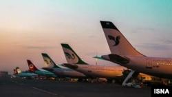 Літаки у міжнародному аеропорту Тегерана