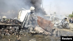 محل انفجار در دمشق- ۲۱ اردیبهشت