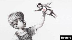 Banksy ikonikus rajza még a járvány első hullámának idején készült