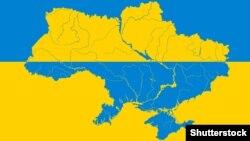 Ukraine -- Ukrainian map