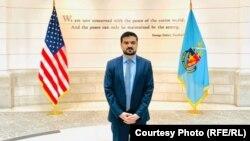 نجیب ننگیال افغان مقیم در واشنگتن و محصل پوهنتون دفاعی امریکا