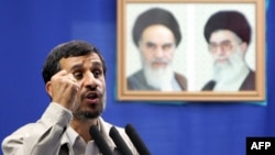 Iranian President Mahmud Ahmadinejad delivers the weekly Friday Prayer sermon at Tehran University on September 18.