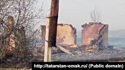 Пожарище на месте деревне Каракуль