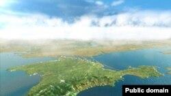 Vedere aeriană a Crimeei
