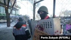 Pamje nga protestat në Kiev