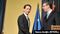 Sebastijan Kurc and Aleksandar Vučić u Beogradu, 9. februara