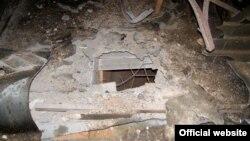 Руйнування від обстрілу приміщення патрульної поліції у Рівному, 2- березня 2017 року (фото з сайту Нацполіції)