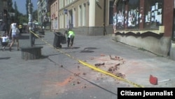 Ulica M. Tita u Zenici nakon zemljotresa