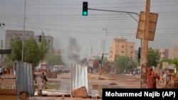 Баррикады в Хартуме, Судан, 5 июня 2019 года