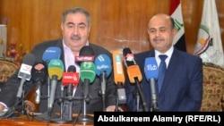 محافظ البصرة ماجد النصراوي مع وزير المالية الحالي هوشيار زيباري