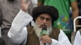Tehreek-e-Labbaik partiýasynyň lideri Khadim Hussain Rizwi.