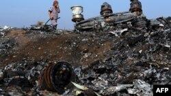 Уламки збитого «Боїнга» біля селища Розсипне, 15 жовтня 2014 року