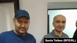 Гражданские активисты Талгат Аян и Макс Бокаев.