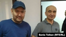 Maks Boqaev (right) and Talghat Ayan say the charges against them were politically motivated.