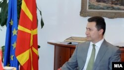Macedonia -- Prime Minister Nikola Gruevski meets with the US Deputy Assistant Secretary for European and Eurasian Affairs, Philip Reeker, 21Aug2012