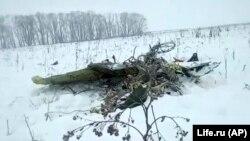 Обломок самолета Ан-148 у села Степановское, примерно в 40 км от аэропорта Домодедово, 11 февраля 2018 года.