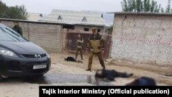 На месте происшествия. Фото пресс-службы МВД Таджикистана