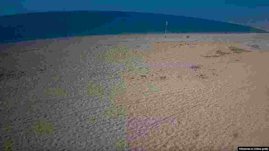 Безлюдный пляж в Любимовке (Севастополь), что в Нахимовском районе города