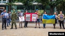 Акция в поддержку Сенцова, архивное фото