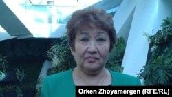 Білім және ғылым министрлігі өкілі Бақыт Әлібаева. Астана, 19 қыркүйек 2013 жыл.