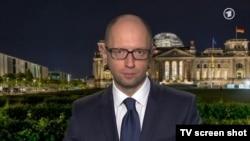 Арсений Яценюк дает интервью германского телеканалу ARD