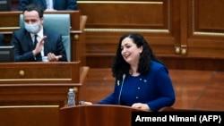 Новый президент Косова Вьоса Османи, 4 апреля 2021