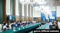 Ședința guvernului prezidată de premierul român Sorin Grindeanu