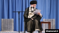 Iran-- Supreme Leader, Ayatollah Ali Khamenei, meets Iranian researchers on Sunday June 10, 2018.