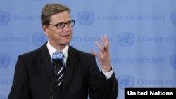 Министерот за надворешни работи на Германија Гидо Вестервеле.