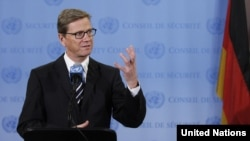 German Foreign Minister Guido Westerwelle called for revived EU talks with Turkey next year.